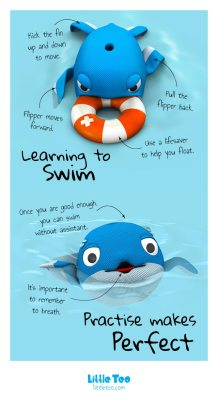 A whale learning how to swim | ADORABLE CUTE CHARACTER STORY PICTURE