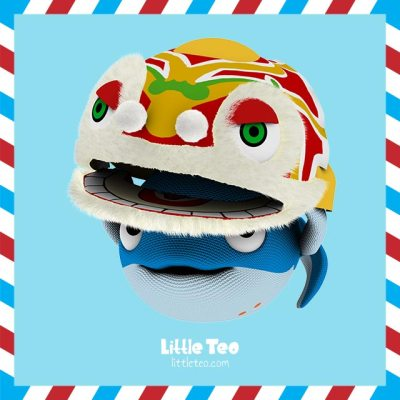 Cute whale Chinese lion dance | ADORABLE CUTE CHARACTER STORY PICTURE
