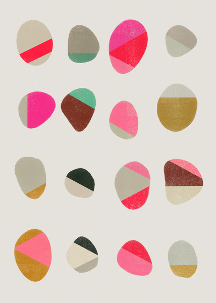 Painted Pebbles 1 by Garima Dhawan