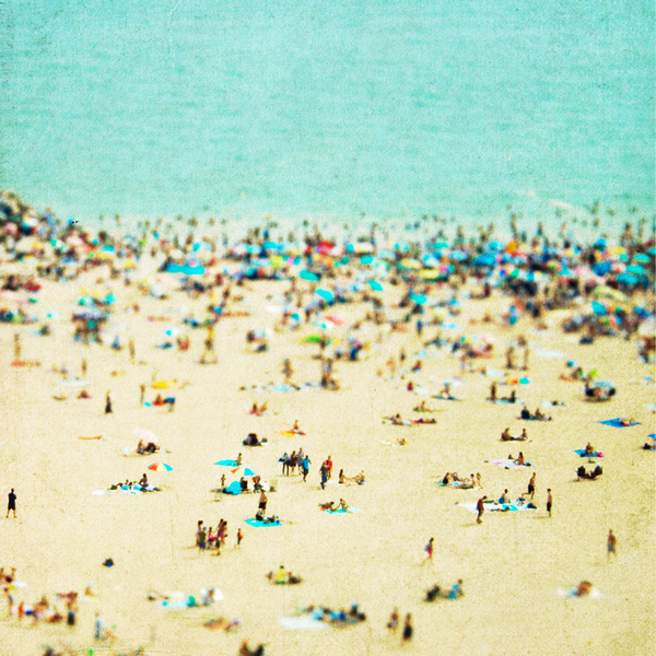 Coney Island Beach by Minagraphy