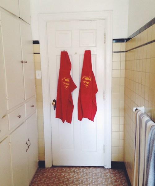 superman cape hooded towels