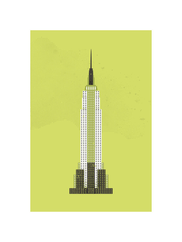 Empire State Building Flare limited edition print by Serenity Avenue