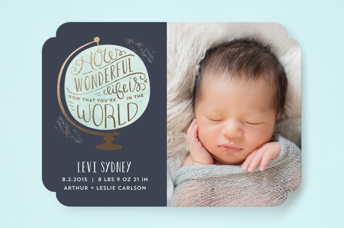 how wonderful birth announcement by laura hankins