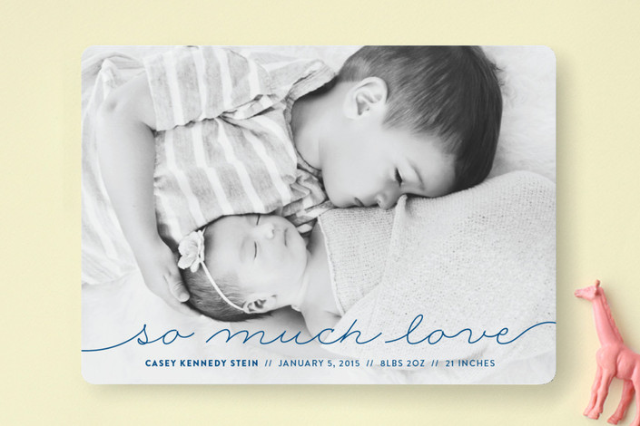so much love to give birth announcement by by genna cowsert