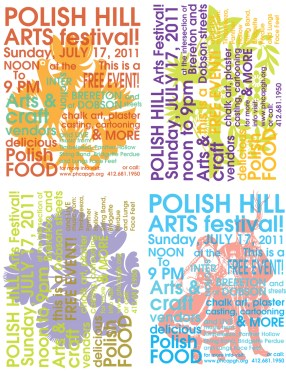 Polish Hill Arts Festival Handbills 2011
