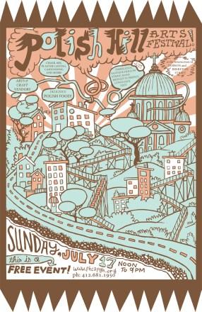 Polish Hill Arts Festival Poster 2011