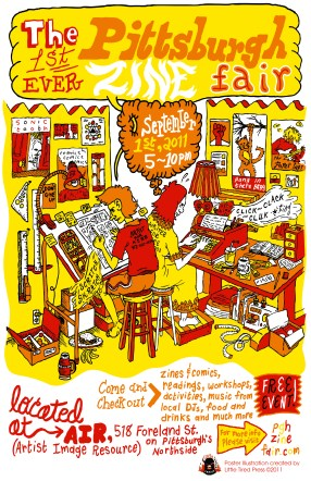 Pittsburgh Zine Fair Poster, 2011