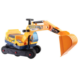 Kids Rideon Excavator Yellow