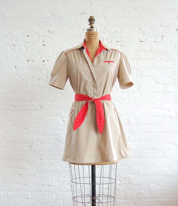 belted safari dress (l/xl)