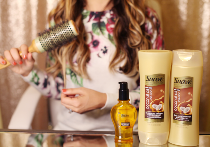 Suave Coconut Oil Infusion line with tips and tricks for healthy hair from fashion, lifestyle, and beauty blogger Little Tree Vintage.