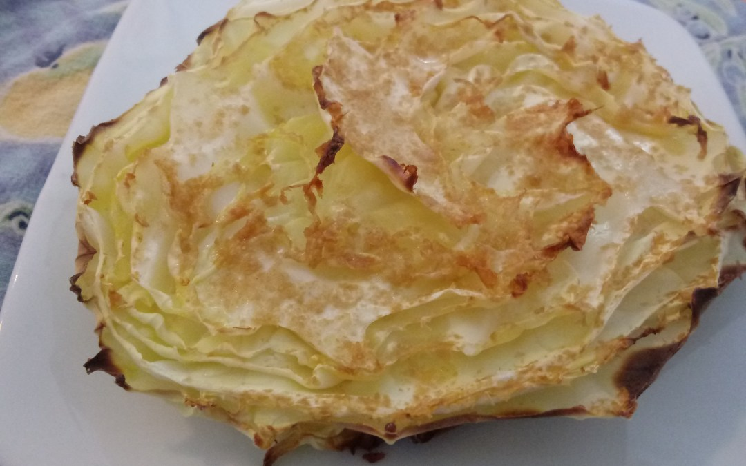 Roasted Green Cabbage