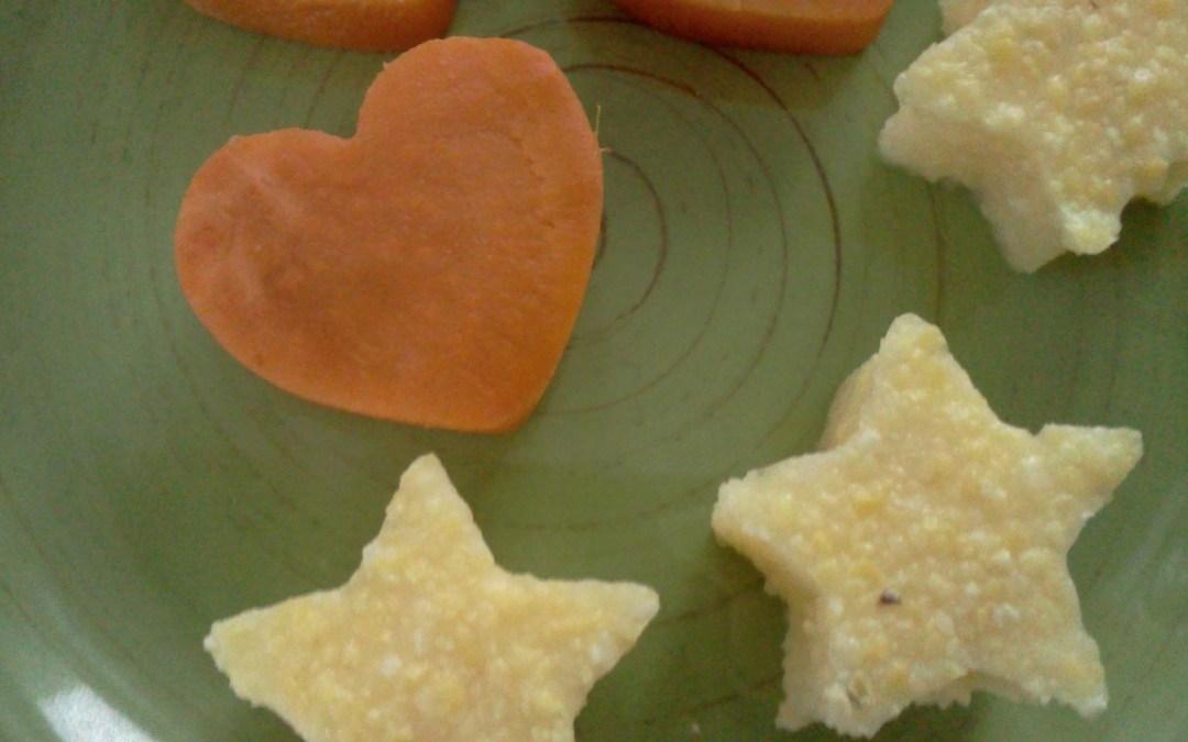 Stars and Hearts:  Food Shapes