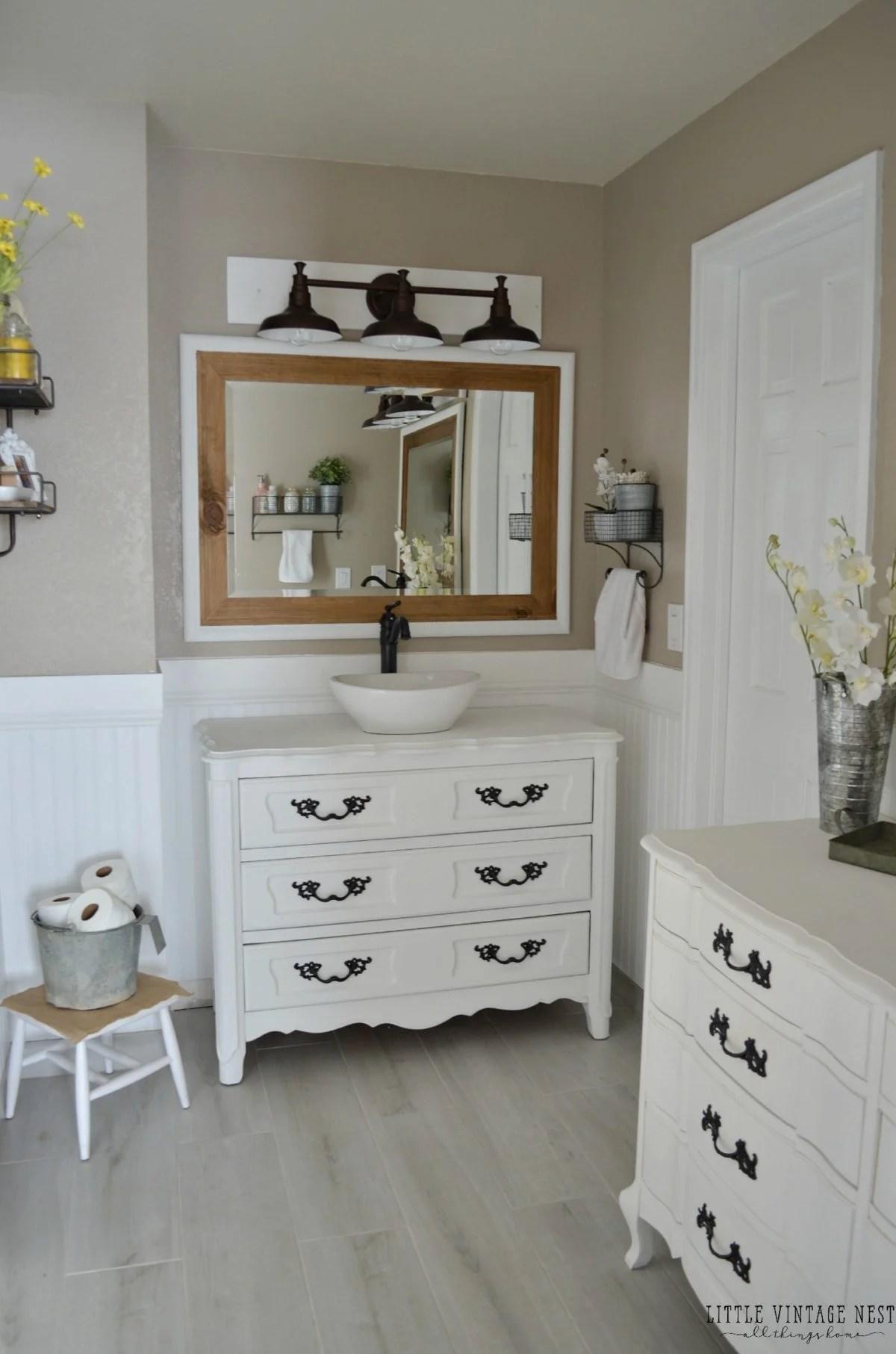 Farmhouse Master Bathroom Reveal - Little Vintage Nest on Farmhouse Shower Ideas  id=36181