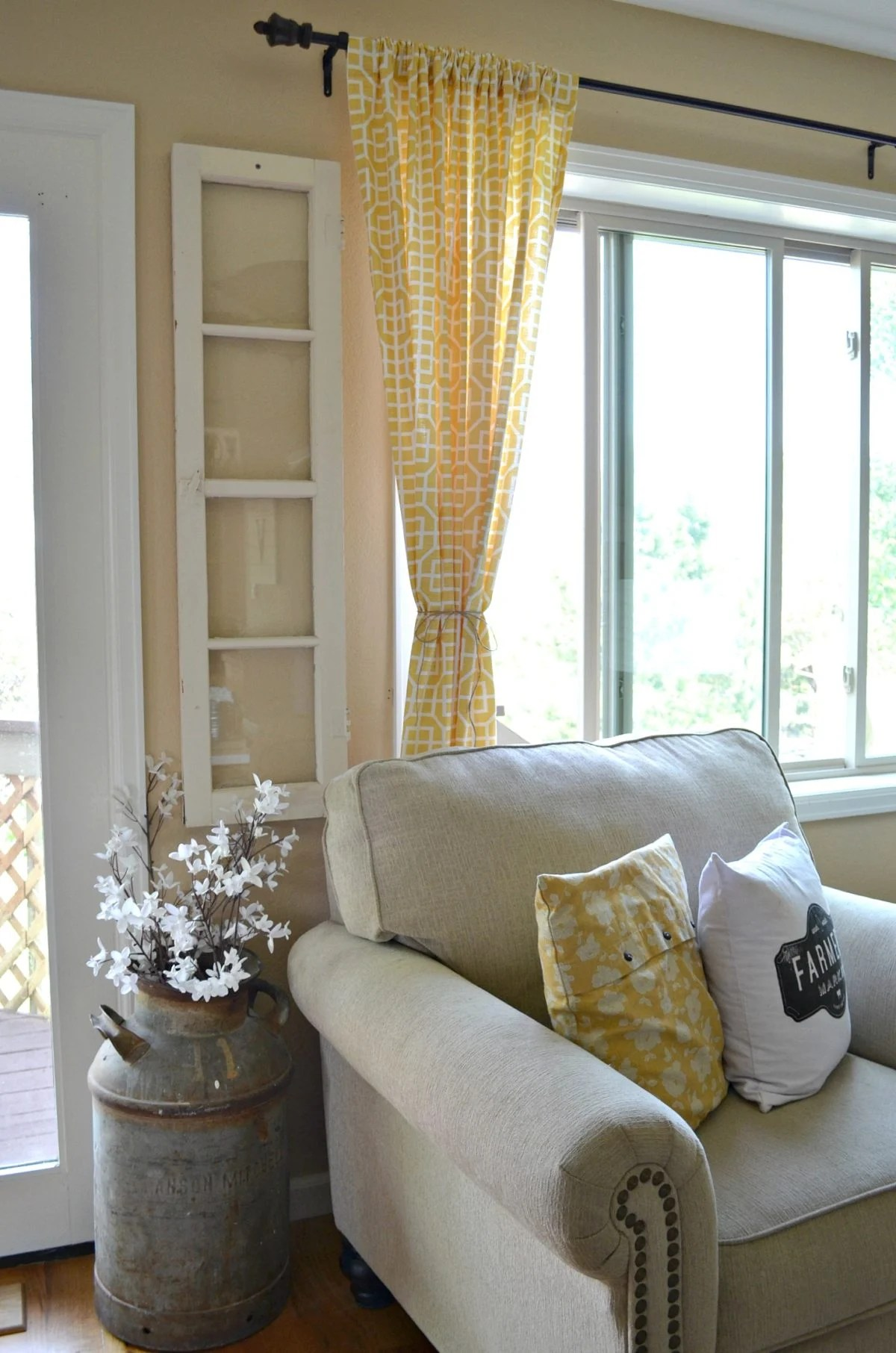 4 Reasons You Should Decorate with Old Windows - Little ... on Farmhouse Living Room Curtain Ideas  id=97664
