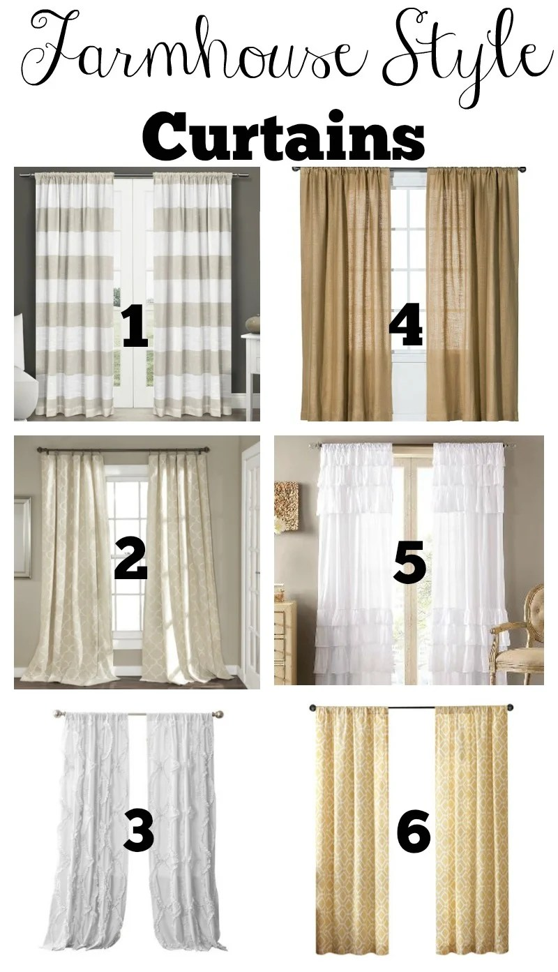 Transitioning to Farmhouse Style Shopping Guide on Farmhouse Curtain Ideas  id=36105