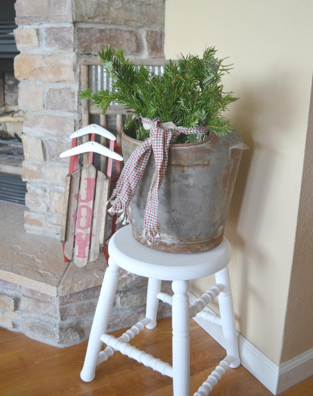 Cozy Christmas Living Room Little Vintage Nest