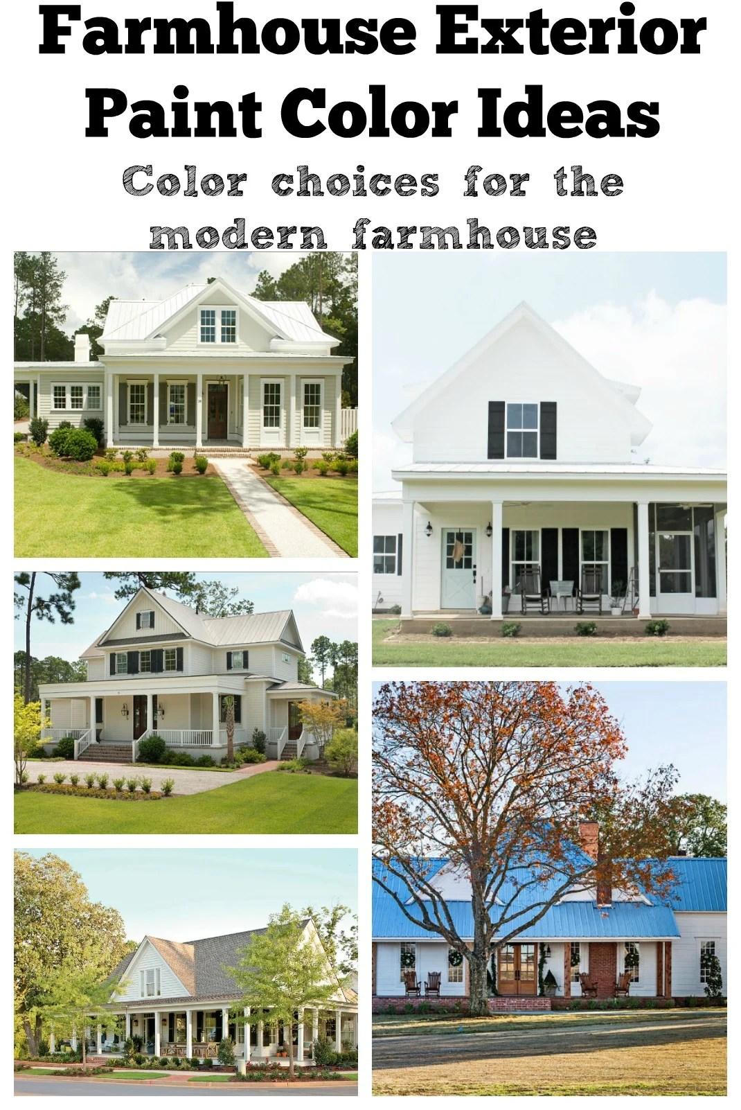 Farmhouse Exterior Paint Color Ideas on Modern House Painting Ideas  id=23028