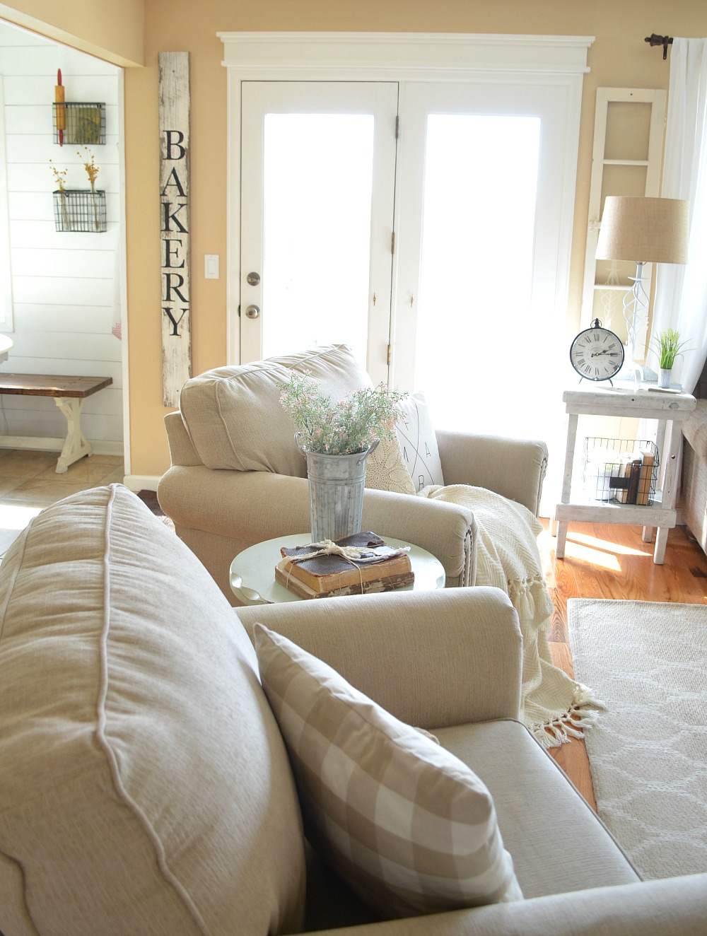 Refreshed Modern Farmhouse Living Room - Little Vintage Nest on Curtains For Farmhouse Living Room  id=47297