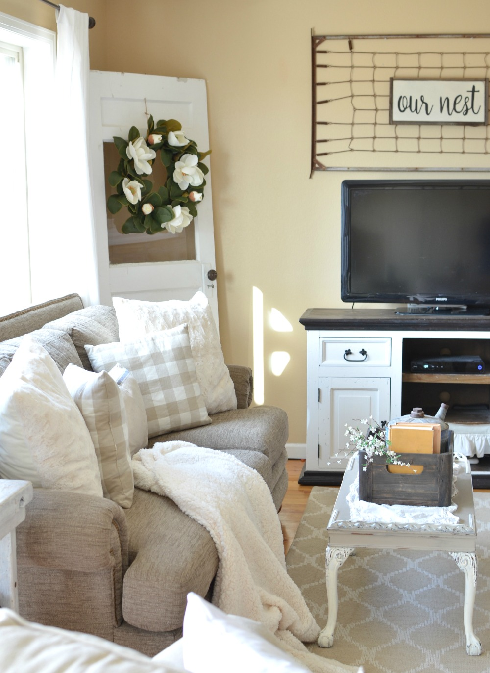 refreshed modern farmhouse living room little vintage nest on colors for farmhouse living room id=41628