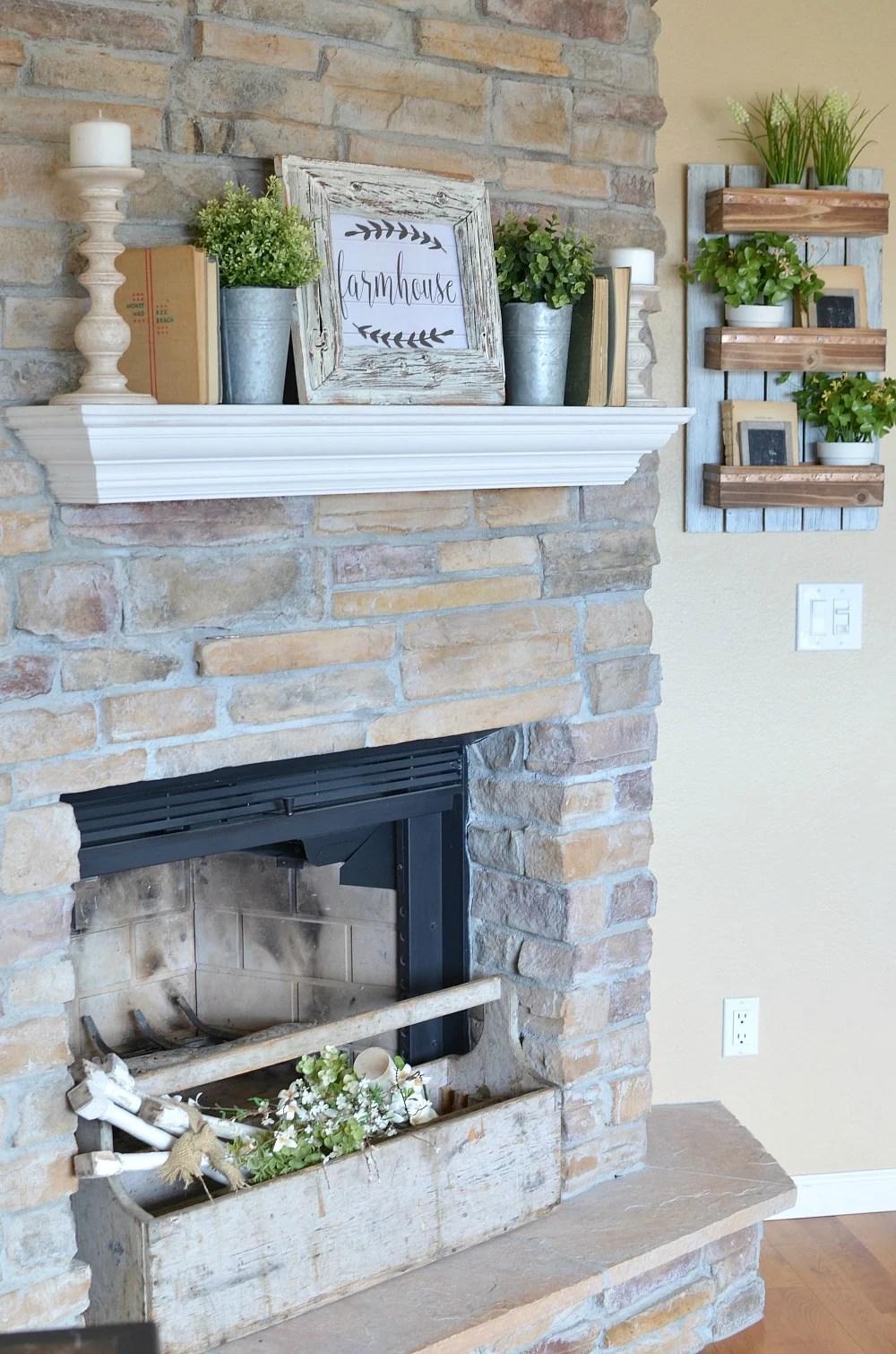Refreshed Modern Farmhouse Living Room - Little Vintage Nest