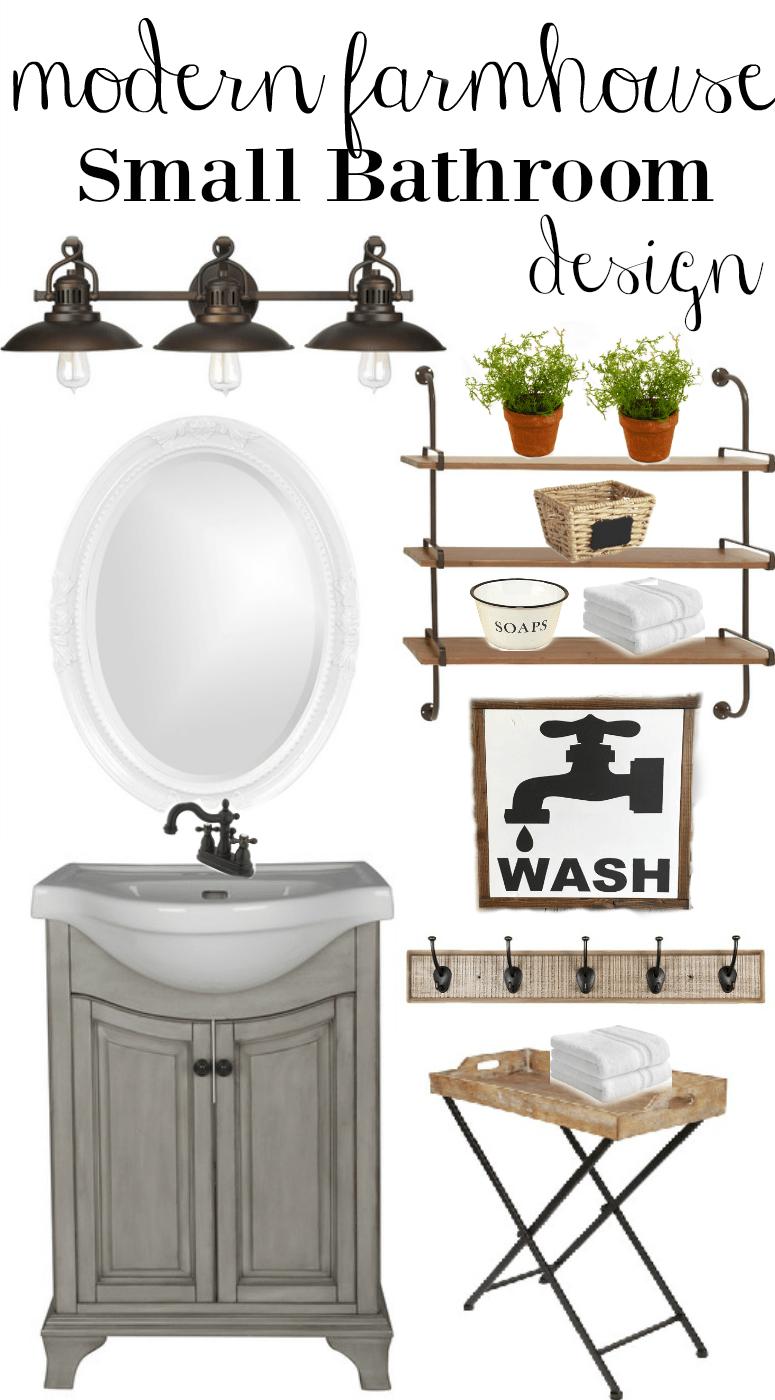 Modern Farmhouse Small Bathroom Design - Little Vintage Nest on Farmhouse Modern Bathroom Ideas  id=12364