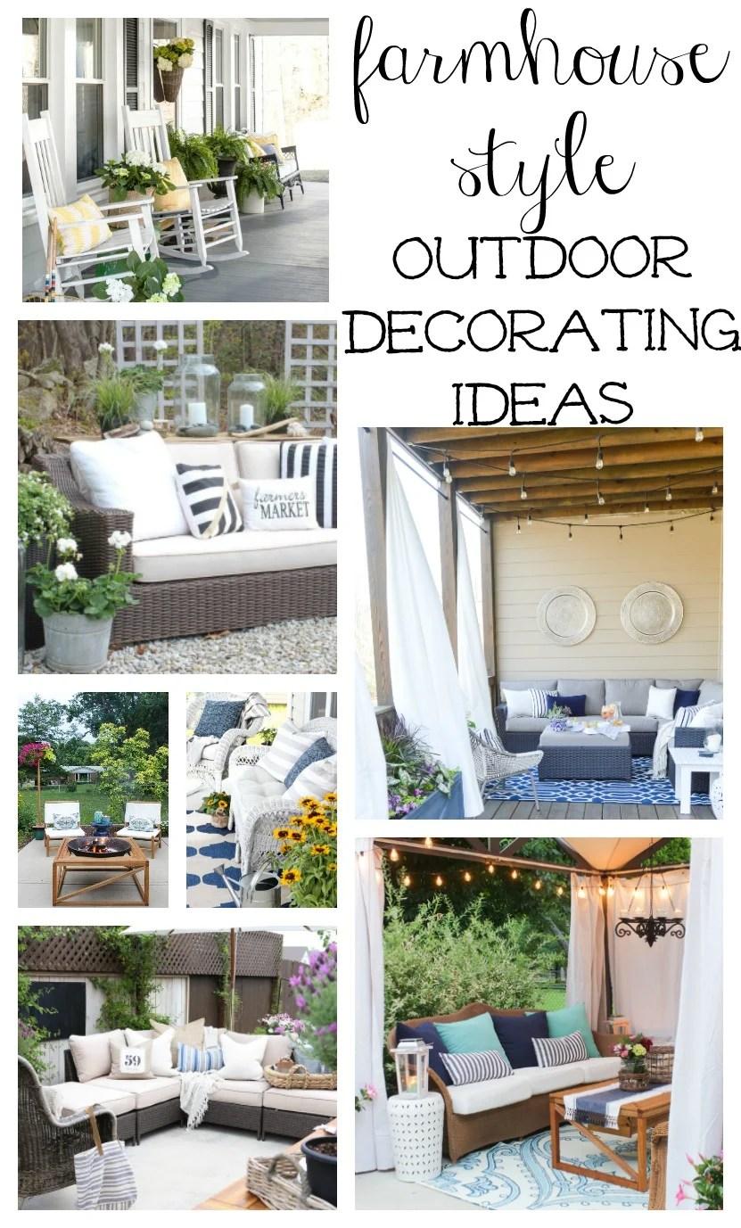 Farmhouse Style Outdoor Decorating Ideas & Shopping Guide on Farmhouse Yard Ideas id=13991