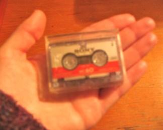 Tiny cassette tape