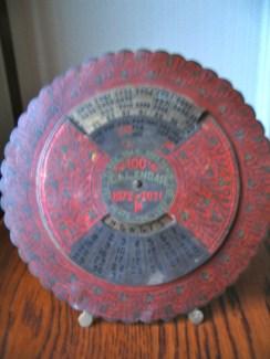 Circular metal calendar