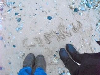 Wales / Cymru art photo. Medium: sand