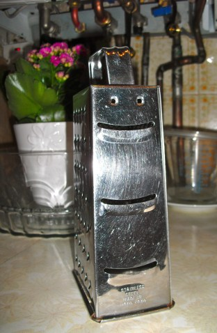 This cheese grater is pleased as punch