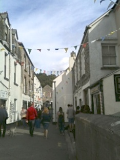 Bunting along the main street