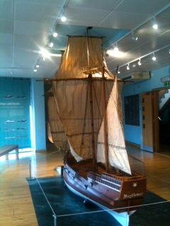 Replica of the Mayflower.