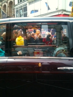 That is the Queen in teal blue & Phillip's hand.