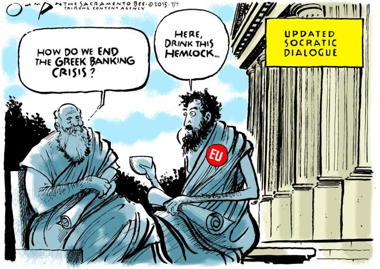 Cartoon via The Sacramento Bee