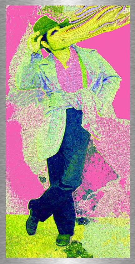 Brokeback Boyfriend (Colin Farrell) 2015, archival inkjet print on etched aluminum with hand embellishment