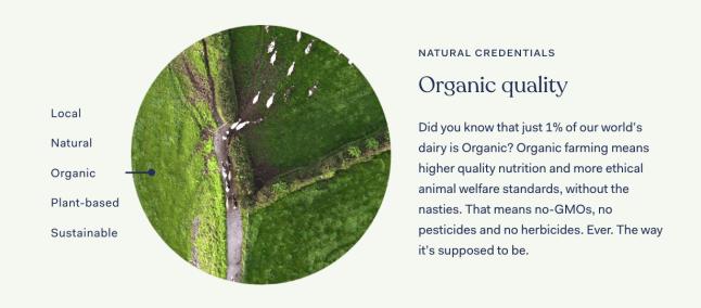 Kendamil organic has no-GMOs, no pesticides and no herbicides.