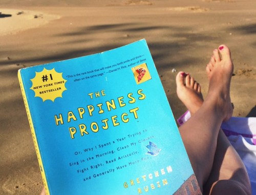 The Happiness Project at the beach