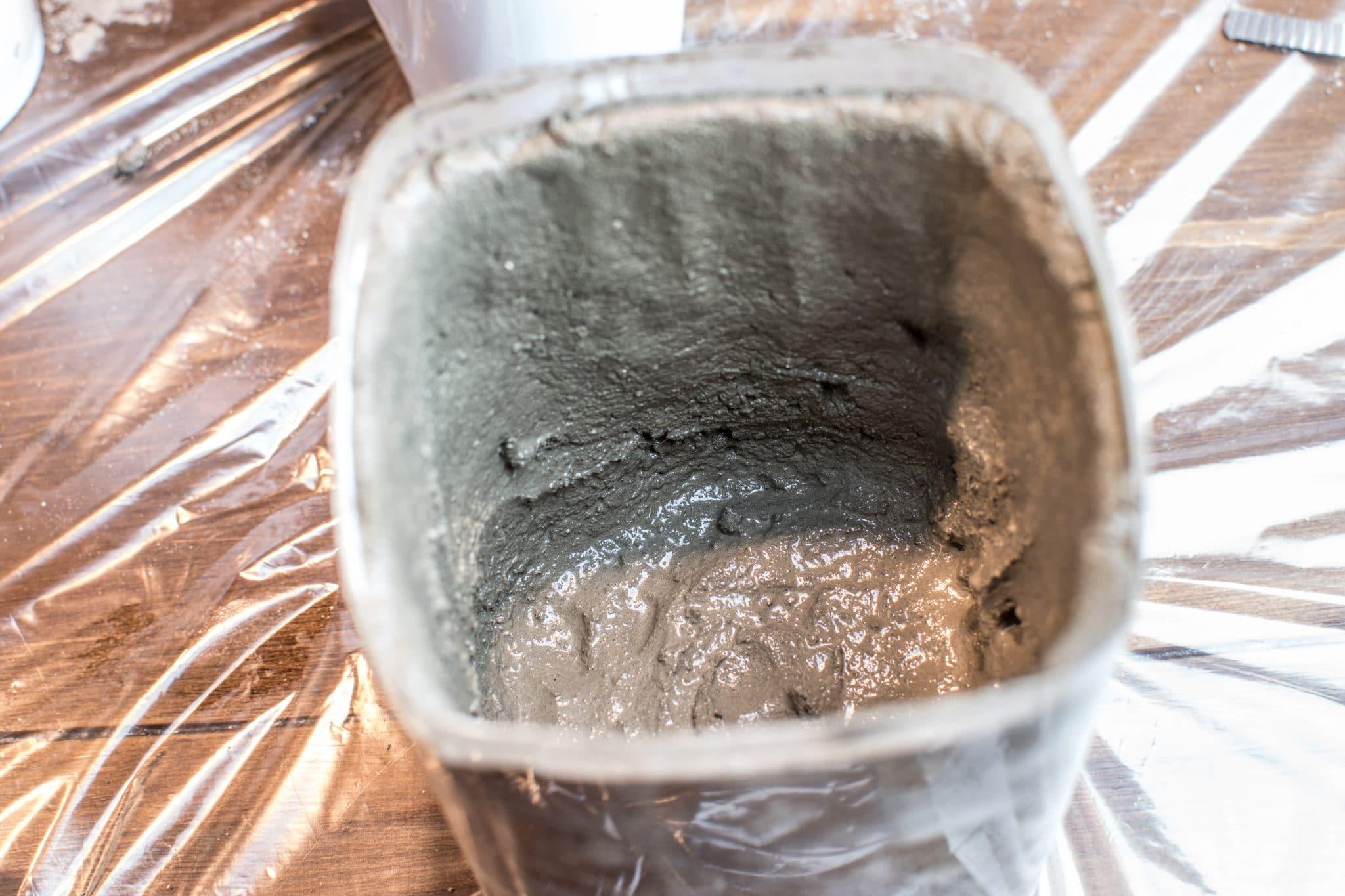 Concrete pots made from moldable Shapecrete