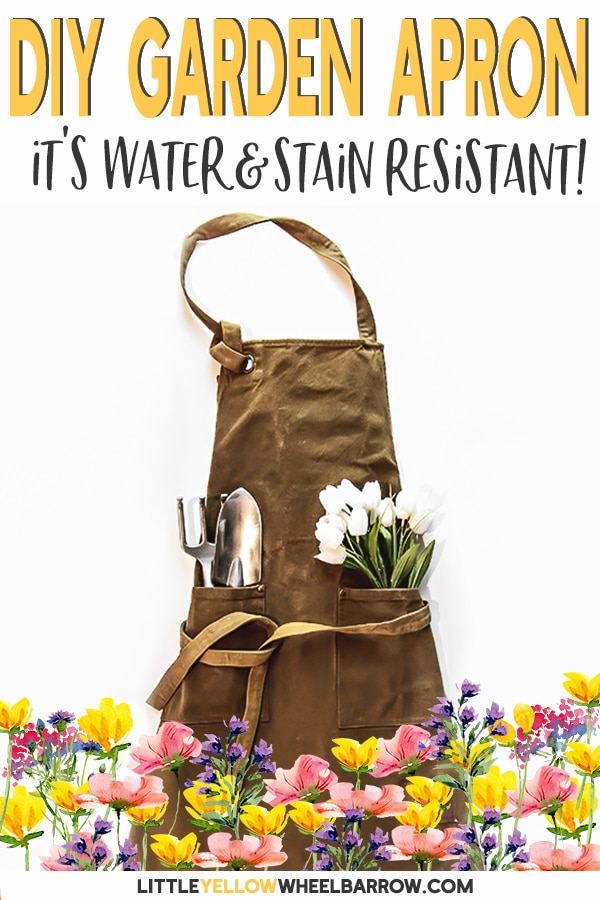 This simple how-to can turn any apron into something magical.  This garden apron is perfect for the muck and the rain since it is water and stain resistant.  A fun DIY project for any gardener who likes to stay clean and dry.