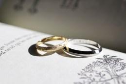 星柄結婚指輪