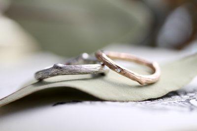 鈴木様オーダーメイド木の枝結婚指輪