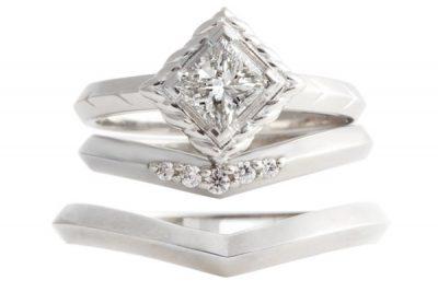 プリンセスカットのダイヤモンドリング
