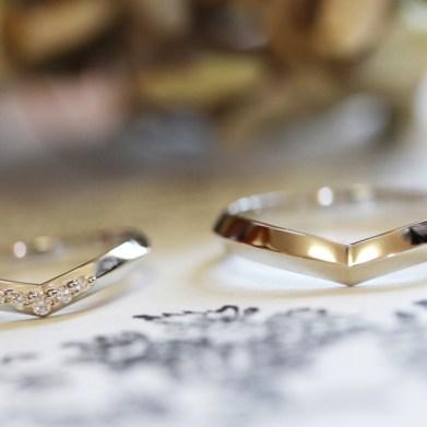 ミンサー柄結婚指輪(H様オーダーメイド)