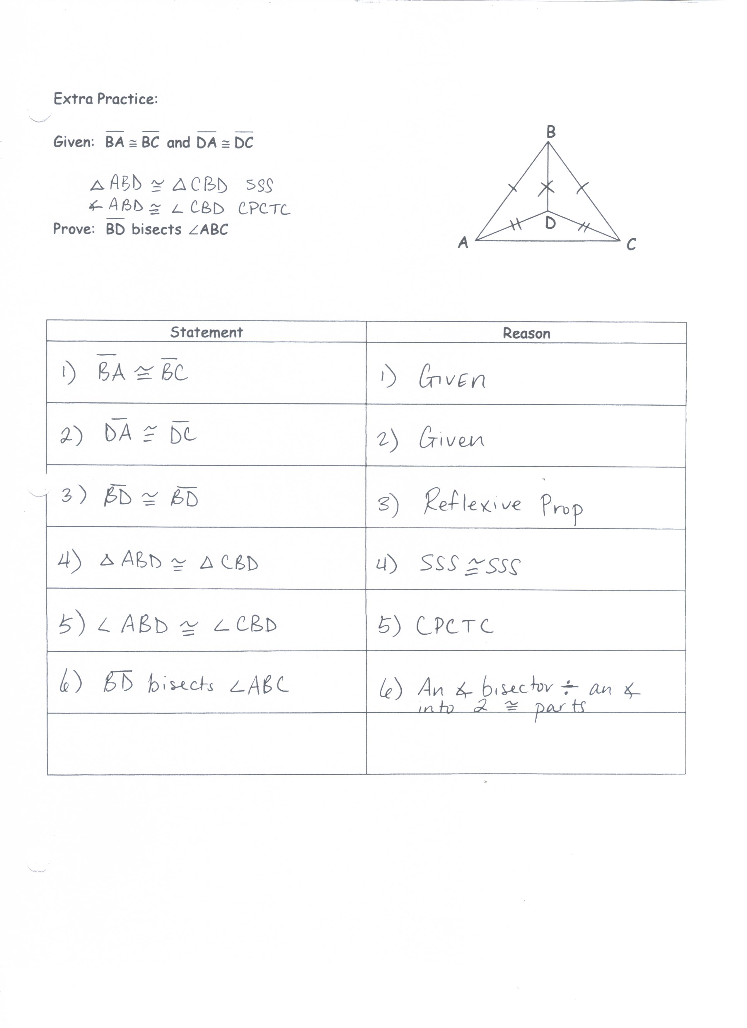 30 Geometry Cpctc Worksheet Answers Key