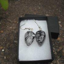Black Lace in Resin earrings