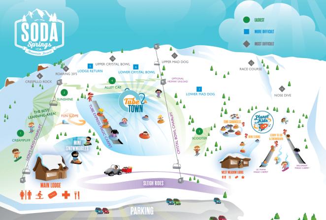 Soda Springs Resort Trail Map