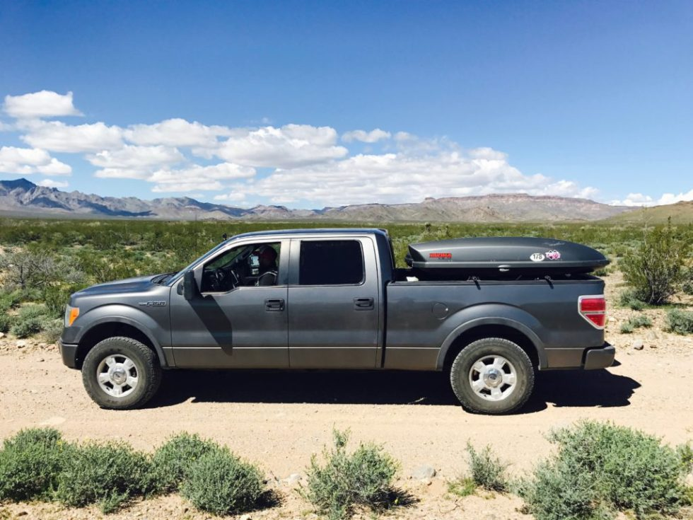 Ford F150 on Foshay Pass, Mojave National Preserve