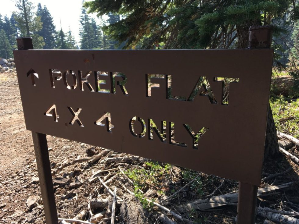 Poker Flat 4x4 Only section of the Plumas Backcountry Discovery Trail