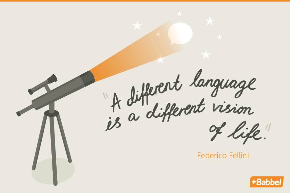 language quote by Federico Fellini A different language is a different vision life