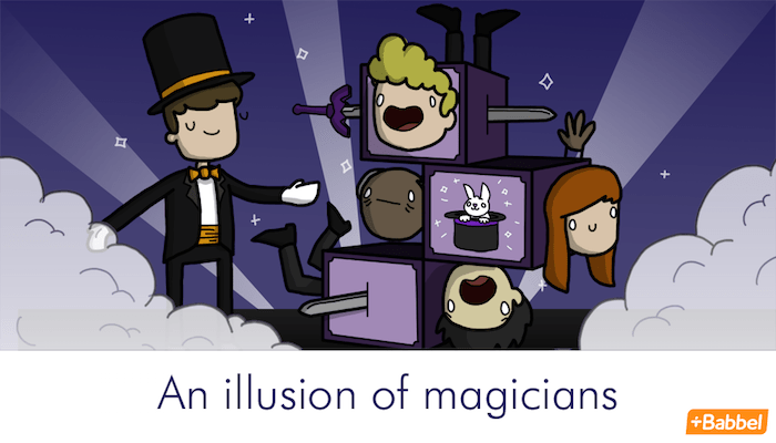 """An illusion of magicians"" - Illustration von James Chapman"